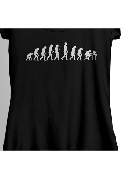 Kendim Seçtim Evolution Human Evrim İnsan Maymun Bilgisayar Kadın Tişört