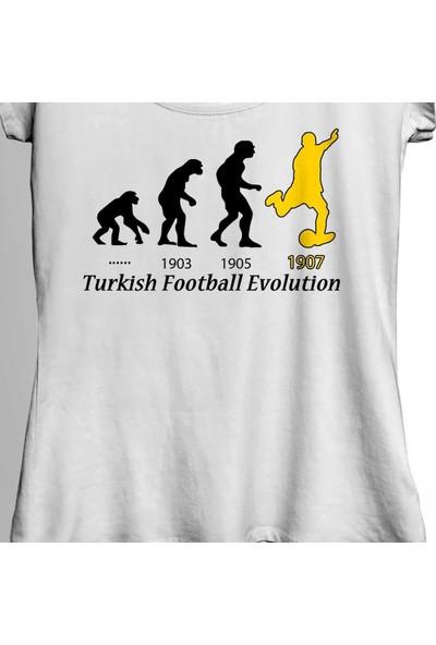 Kendim Seçtim Fenerbahçe 1907 Turkish Football Evolution Kadın Tişört