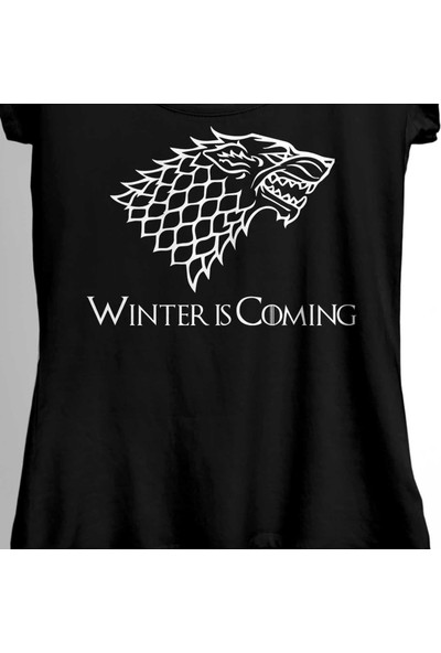 Kendim Seçtim Game Of Thrones Winter Is Coming Kadın Tişört
