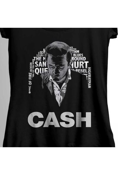 Kendim Seçtim Johnny Cash Country Music She Used To Love Me Kadın Tişört