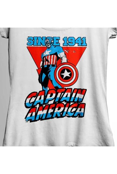 Kendim Seçtim Kaptan Amerika Captain America Since 1941 Kadın Tişört