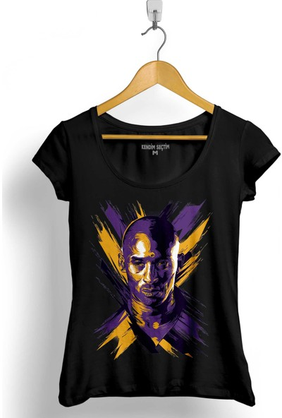 Kendim Seçtim Kobe Bryant Black Mamba Logo Nba Basketball Kadın Tişört
