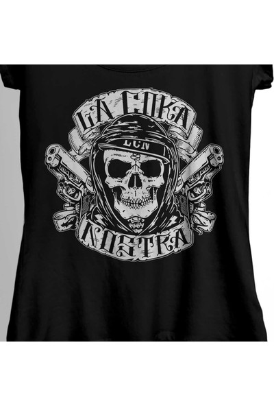 Kendim Seçtim Kuru Kafa La Coka Nostra Gun In Your Mouth Kadın Tişört