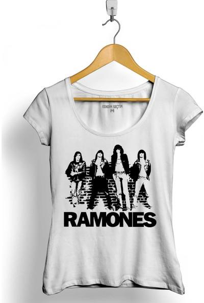 Kendim Seçtim Musical Ramones Punk Rock Müzik Kadın Tişört