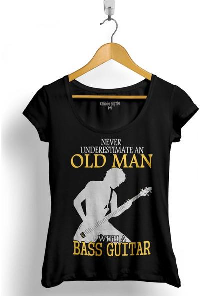 Kendim Seçtim Neıl Young Never Undersestimate An Old Man Kadın Tişört