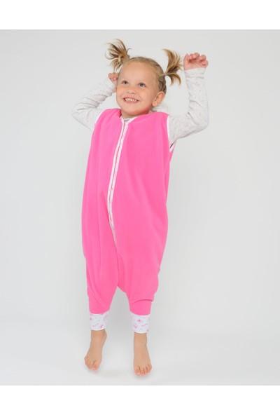 Yorni Ayaklı Oeko-Tex Mikro Polar Kız Çocuk Uyku Tulumu