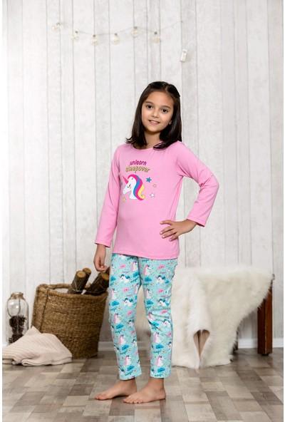 Lingabooms Unicorn 2'li Çocuk Pijama Takım LB3002