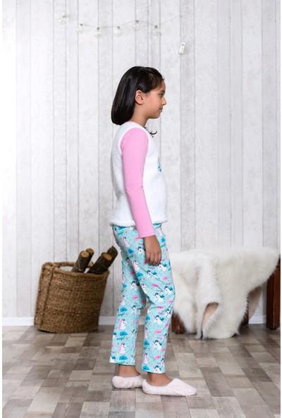 Lingabooms Wellsoft Önü Nakışlı Unicorn 2'li Çocuk Pijama Takım LB3004