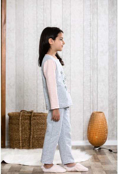 Lingabooms Patlamış Mısır 2'li Çocuk Pijama Takım LB3007
