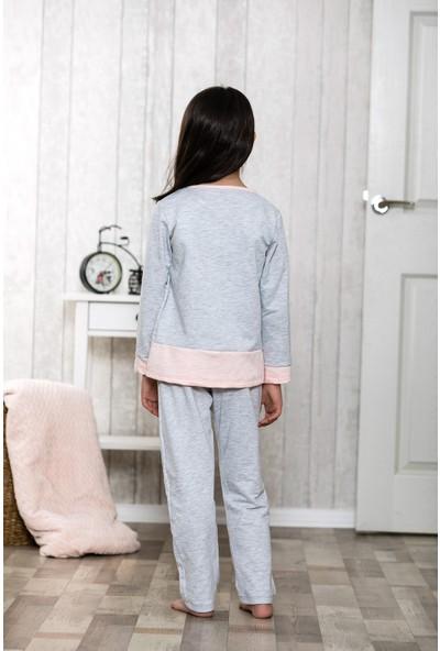 Lingabooms Patlamış Mısır 2'li Çocuk Pijama Takım LB3009