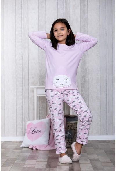Lingabooms Bulutlu 2'li Çocuk Pijama Takım LB3011