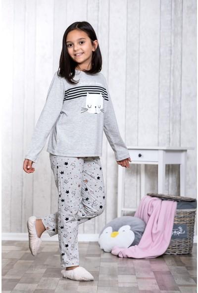Lingabooms Taçlı 2'li Çocuk Pijama Takım LB3014