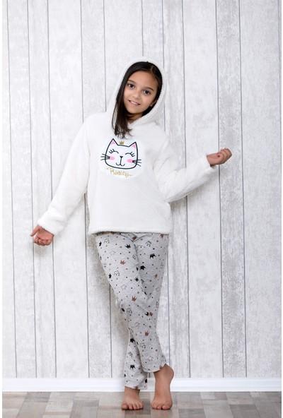 Lingabooms Taçlı Kapşonlu 2'li Çocuk Pijama Takım LB3016