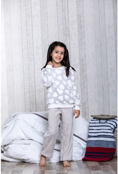 Lingabooms Kalpli 2'li Çocuk Pijama Takım LB3023