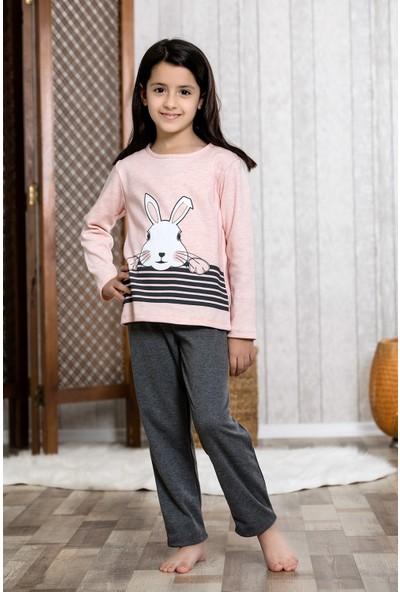 Lingabooms Tavşanlı 2'li Çocuk Pijama Takım LB3024