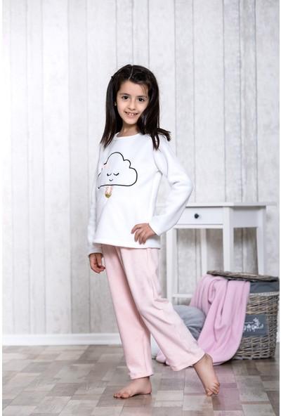 Lingabooms Bulut Nakışlı 2'li Çocuk Pijama Takım LB3025