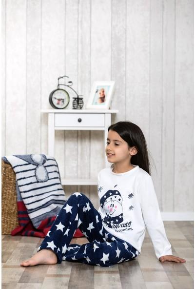 Lingabooms Yıldız Baskılı Kardam Adam Nakışlı 2'li Çocuk Pijama Takım LB3033