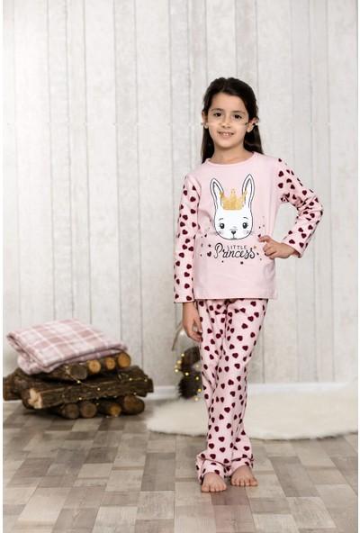 Lingabooms Kedi Kız Baskılı 2'li Çocuk Pijama Takım LB3041