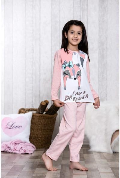 Lingabooms My Little Pretty Cat Baskılı 2'li Çocuk Pijama Takım LB3042