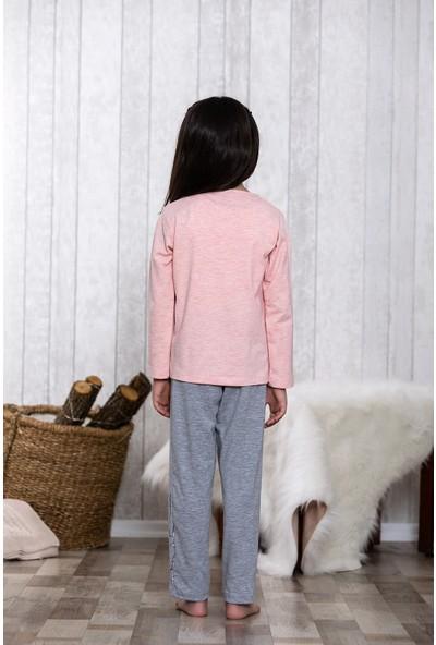 Lingabooms Tavşan Baskılı 2'li Çocuk Pijama Takım LB3043