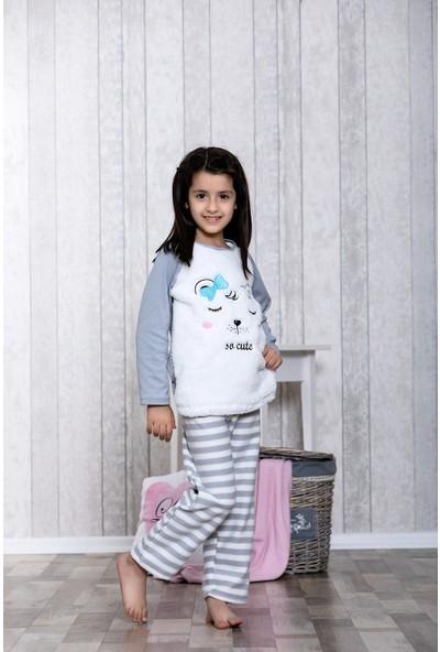 Lingabooms Ayıcık Desenli 2'li Çocuk Pijama Takım LB3045