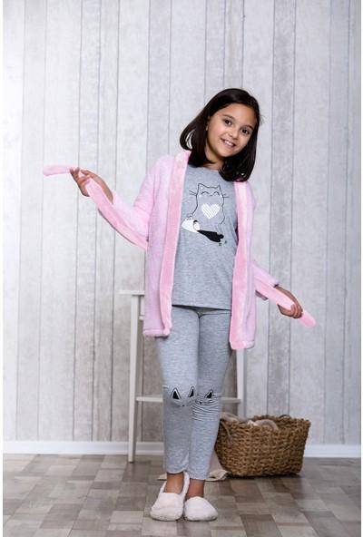 Lingabooms Kedili 3'lü Çocuk Pijama Takım LB5003