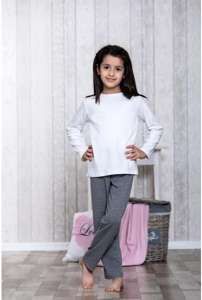 Lingabooms Basic Bluz 3'lü Çocuk Pijama Takım LB5004
