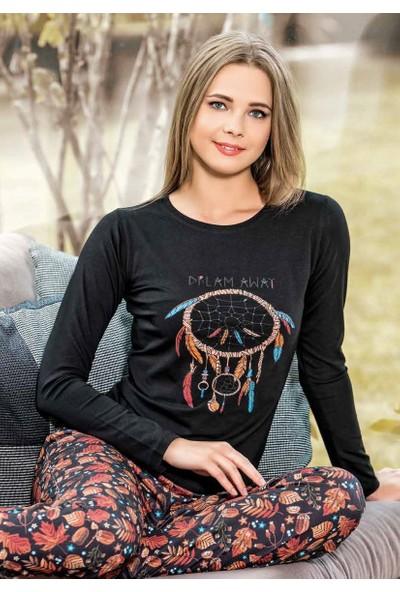 Maranda P1074 Uzun Kollu Kadın Pijama Takımı