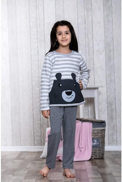 Lingabooms Ayıcık Desenli 2'li Çocuk Pijama Takım LB3046
