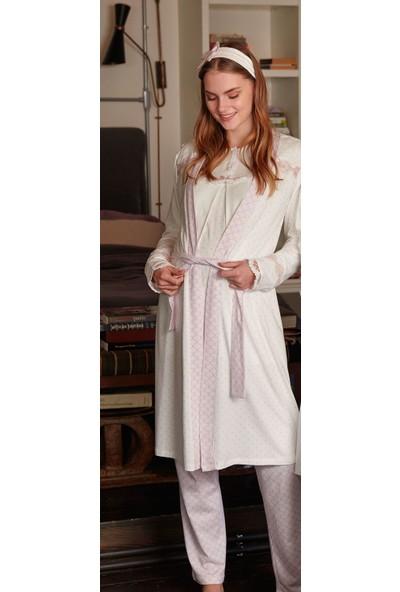 Feyza 3315 Hamile Lohusa Üçlü Pijama Takımı