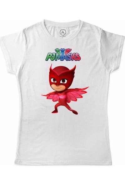 Art T-Shirt Pijamaskeliler Baykuş Kiz Çocuk T-Shirt