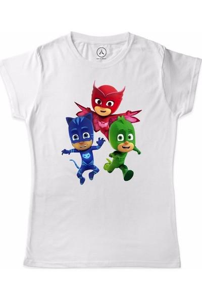 Art T-Shirt Pijamaskeliler Koşu Ekip Çocuk T-Shirt