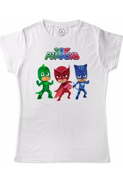 Art T-Shirt Pijamaskeliler Üçlü Ekip Çocuk T-Shirt