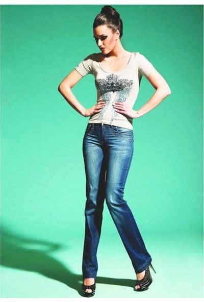 Dodona 1121 Tasarım Taşlı Kot Pantolon