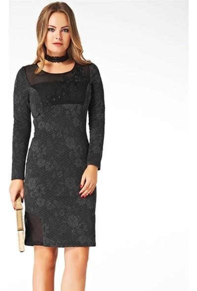 Dodona 2198 Tasarım Şık Gece Elbisesi