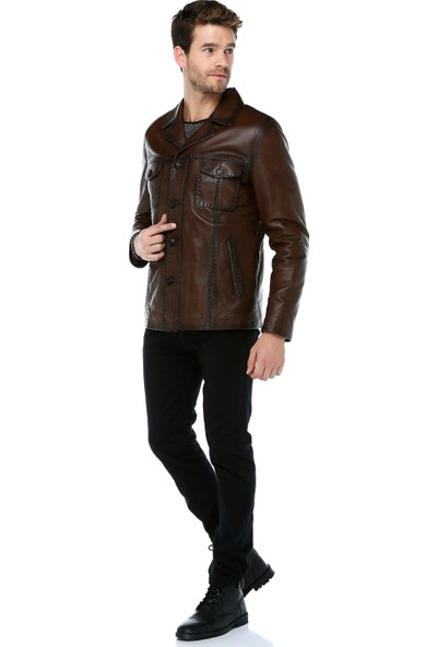 Dericlub E-1024 Deri Erkek Ceket