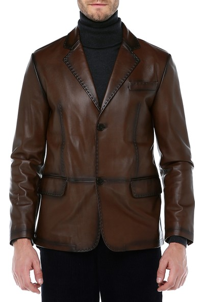 Dericlub Pc Blazer Deri Erkek Ceket
