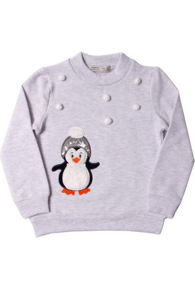 Toontoy Kız Çocuk Sweatshirt Penguen Nakışlı - 1 Yaş - 86Cm Boy