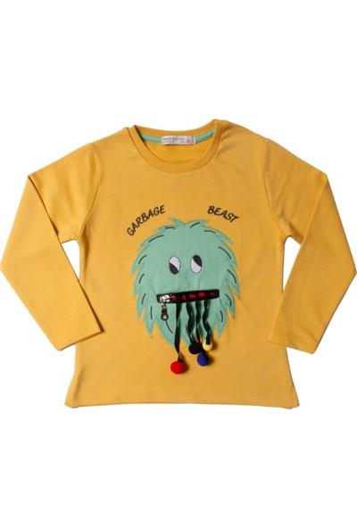 Toontoy Erkek Çocuk Sweatshirt Canavar Nakışlı - 3 Yaş - 98Cm Boy