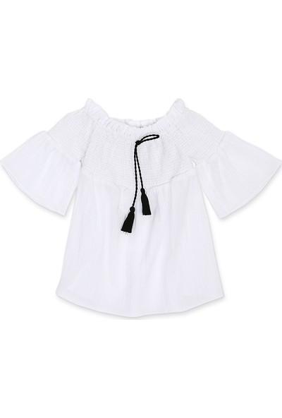 Tülü Akkoç Gipeli Beyaz Elbise
