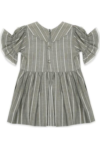 Tülü Akkoç Haki Nostaljik Elbise