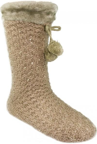 Twigy Nn0750 Tw Walker Peluş Çorap Pembe Kadın Tekstil