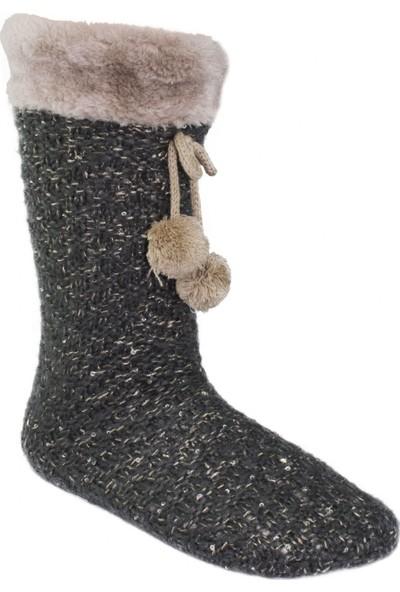 Twigy Nn0750 Tw Walker Peluş Çorap Füme Kadın Tekstil