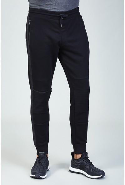 AVVA Siyah Erkek Düz Slim Fit Jogging Pantolon A82Y3407