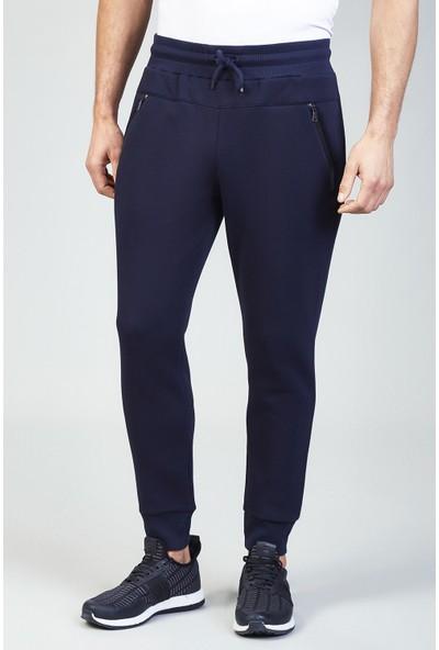 AVVA Lacivert Erkek Düz Slim Fit Jogging Pantolon A82Y3414