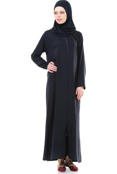 İhvan 5008-2 Lacivert Pratik, Kendinden Örtülü Namaz Elbisesi