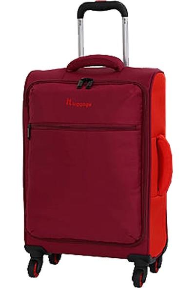 IT LUGGAGE 2232 Kabin Boy Kumaş Valiz Kırmızı