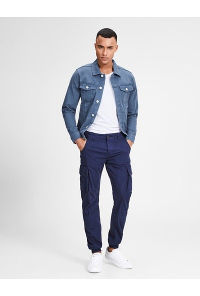 Jack & Jones 12136319 Jjıalvın Jjjacket Akm 528 Sts Dark Denim
