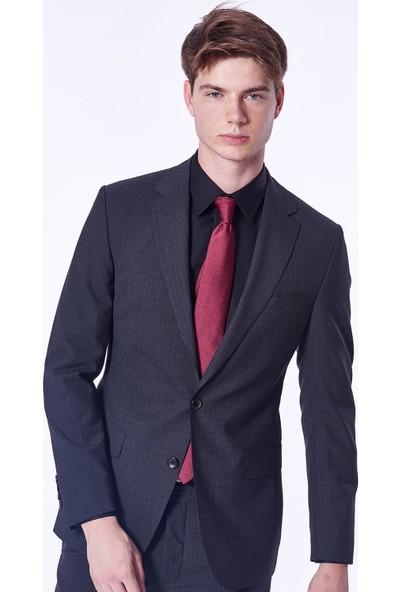 Dufy Ekose Erkek Takım Elbise - Regular Fit