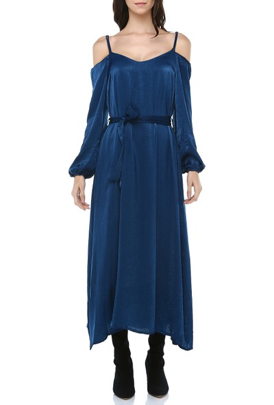 Cream&Rouge Kadın 17Y289 Omuzları Açık Uzun Elbise